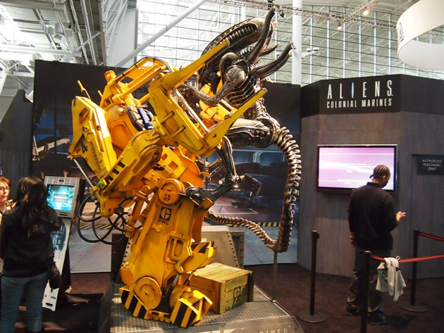 Sega's Aliens: Colonial Marines booth at PAX East Gaming Expo