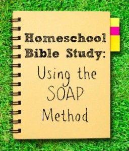 Homeschool Bible Study: Using the SOAP Method
