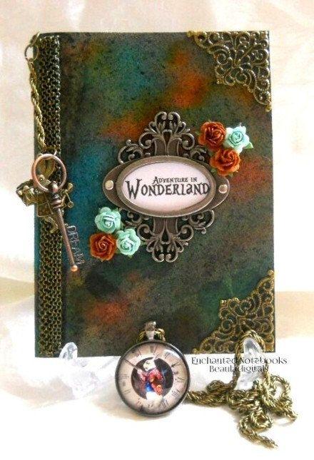 Alice in Wonderland Inspired Enchanted Notebooks by Beauladigitals