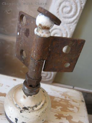 Old rusty hinge repurposed into an angel - Who knew?