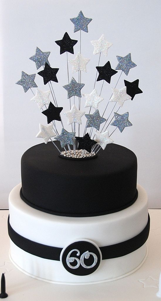https://flic.kr/p/aFK62g | Dad's 60th | For my Dad's 60th party with a black, white and silver theme.
