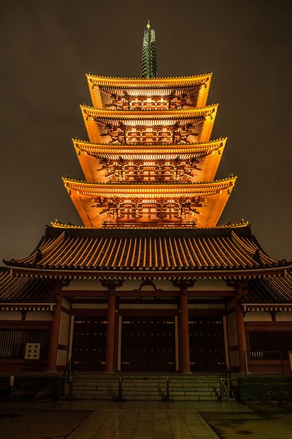 Five-story pagoda of Senso-ji temple #Tokyo #Japan