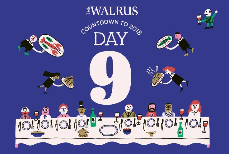 From the Toronto Blue Jays' latest slump to the case against eating fish, we spent a lot of time discussing the two things that are sure to divide—and unite—us all: food and sports.  Illustrations by Benoit Tardif   https://thewalrus.ca/2017-countdown-day9/