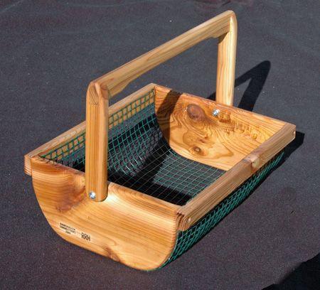 Harvest basket.  Such a good idea.