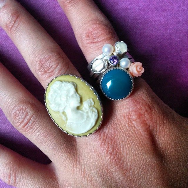 These Lost & Found rings are on their way to Sub Rosa Vintage in Kensington Market! ‪#‎reclaimedstones‬ ‪#‎recycle‬ ‪#‎rings‬ ‪#‎vintage‬ ‪#‎shoplocal‬ ‪#‎slashpiledesigns‬
