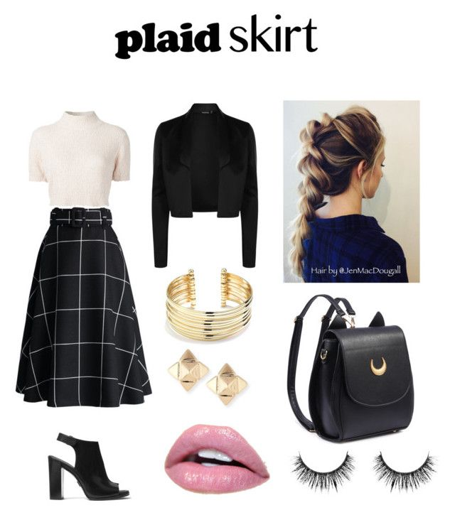 Plaid Skirt by ruffo-srn on Polyvore featuring polyvore, fashion, style, Rachel Comey, Michael Kors, Valentino, Belk Silverworks, Chicwish and clothing