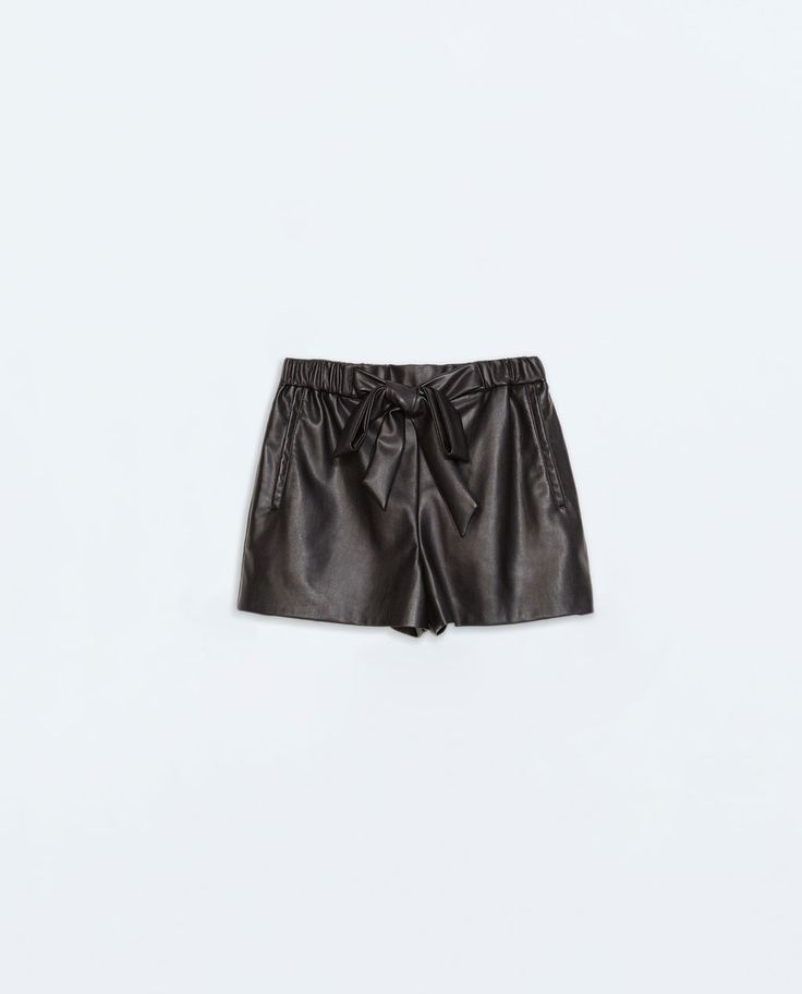 {Zara Leather Shorts with Bow - under $50}