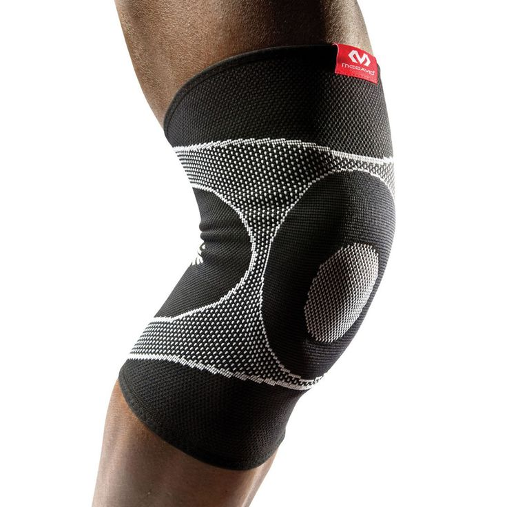 McDavid                         Knee Sleeve with 4-Way Elastic with Gel Butress