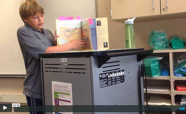 Video book talk by fifth-grade student fourth Wealthy Elementary School in E Grand Rapids, MI https://vimeo.com/141067646