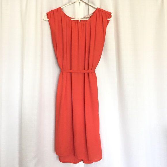 Tangerine dress Over the knee tangerine dress. Forever 21 Dresses