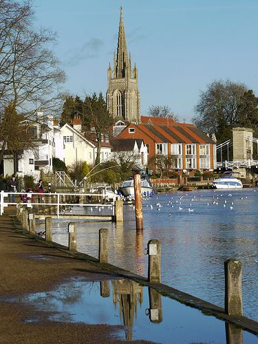 The lovely town of Marlow on Thames, Buckinghamshire, England