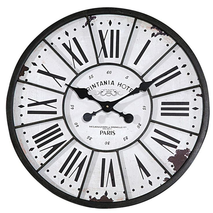 24 Antiqued Paris Hotel Wall Clock 108