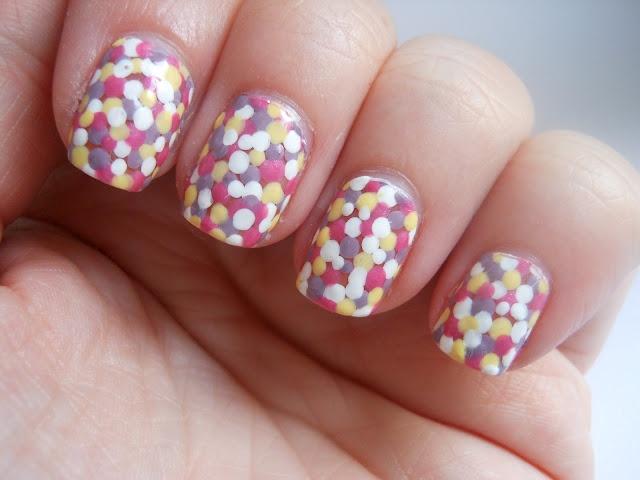 Dippin' Dots: Easter Nail Art, Nail Art Ideas, Dot Nails, Dippin Dots Nails, Nail Ideas, Spring, Easter Nails