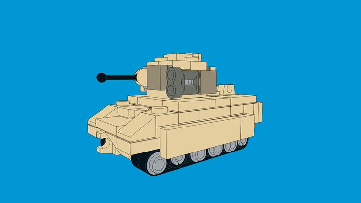 Mini LEGO Bradley M2 IFV MOC created by The Bobby Brix Channel. Download the model by clicking on the link!