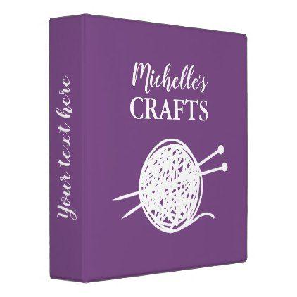 Custom binder book for hobbies like knitting craft - craft diy cyo cool idea