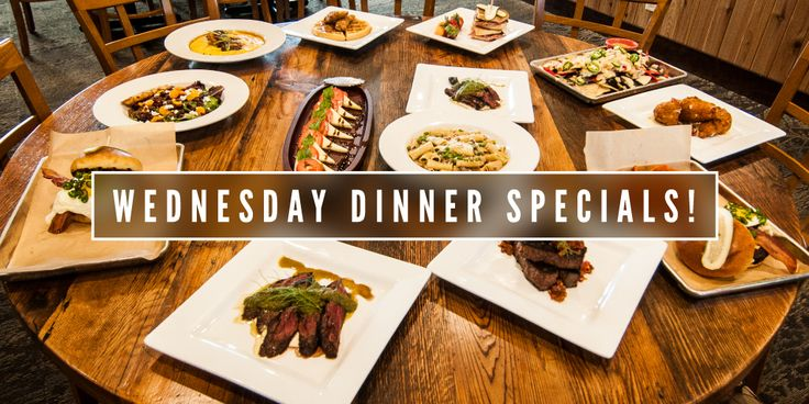 Wednesday night dinner specials starting 4.26.17. Reservations required.
