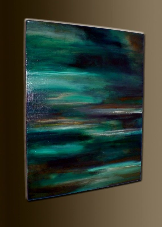 Tranquil waters 28 x 22 acrylic abstract painting for Textured acrylic abstract paintings