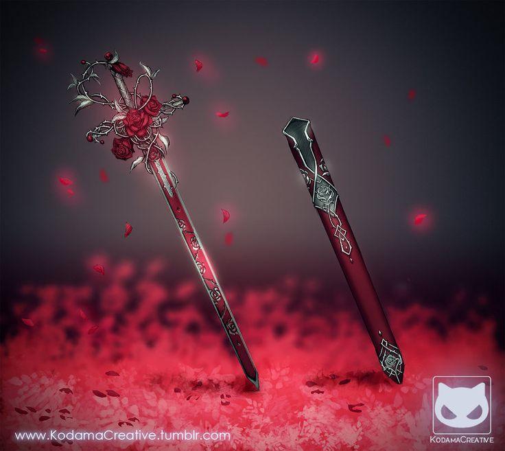 Commission: Sword Design - Rose Blade by KodamaCreative.deviantart.com on @DeviantArt