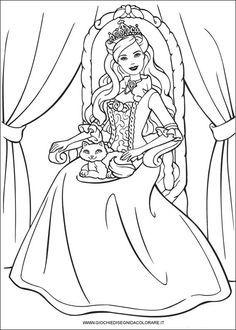 barbie_principessa_28 Disegni da colorare dei film