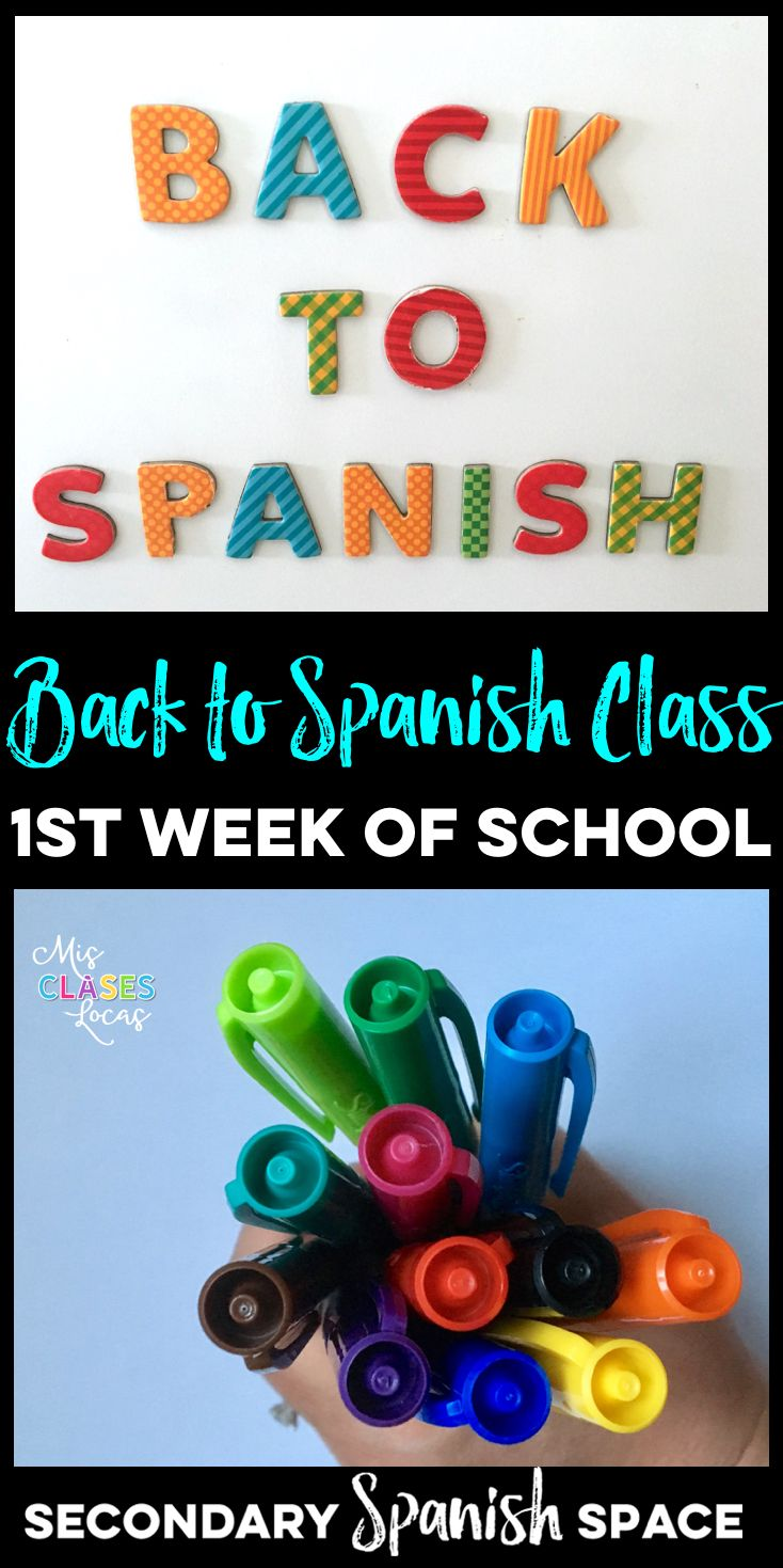 Back to Spanish Class - What to do the 1st Week of School