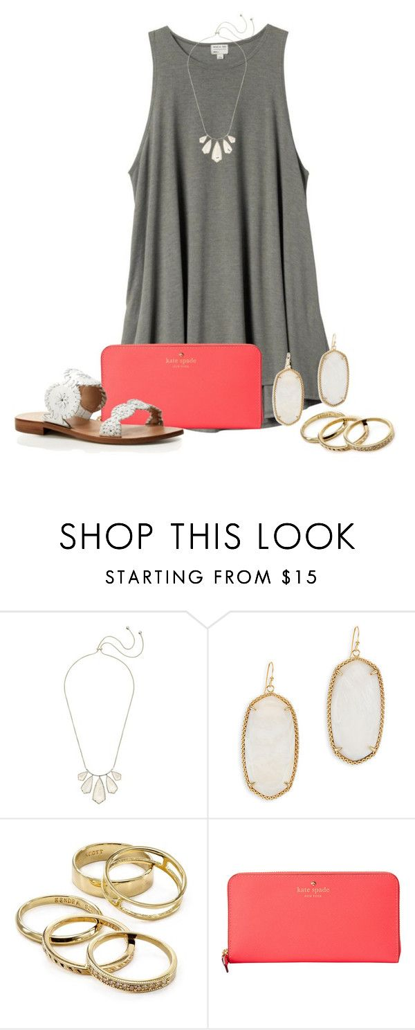 """Lydia's contest day 4"" by kendrajc ❤ liked on Polyvore featuring H&M, Kendra Scott, Kate Spade, Jack Rogers and lydiasdreamspringbreakcontest"