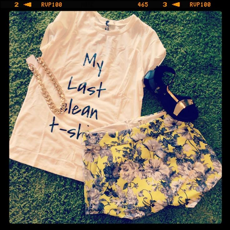 My last clean tee $20  Dark romance skorts $20  Warrior sandals $40   Gold chain $18   Total :$98 — at Style Society Sydney.