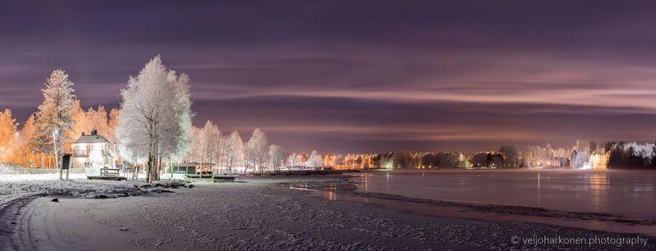 Värttö Riverside - A violet moment in the Oulu winter