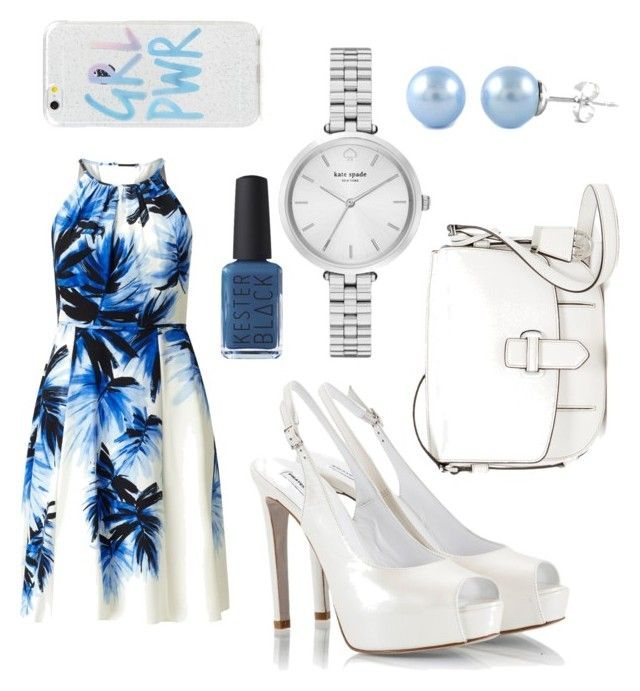"""""""Periwinkle Party"""" by aamanigk on Polyvore featuring Adrianna Papell, Fratelli Karida, MICHAEL Michael Kors, Kate Spade and Kester Black"""