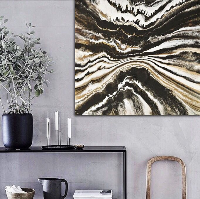 Zebra Sea, resin art 100cm X 100cm available in the Gallery.