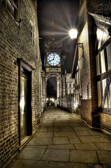 Eastgate Clock, Chester, England.I want to go see this place one day.Please check out my website thanks. www.photopix.co.nz