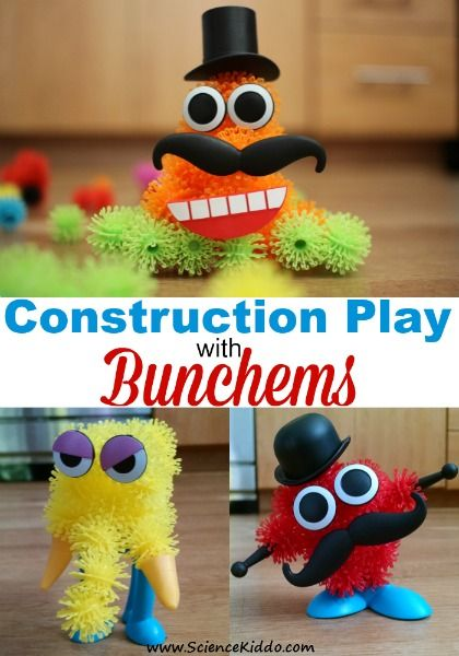 Kids that engage in construction play enhance problem solving skills, fine motor skills, and spacial skills. Bunchems encourage creativity and learning! #Bunchems #CG