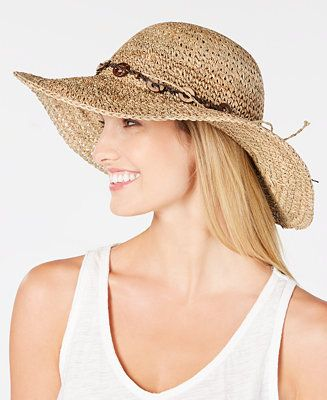 ae8651742a352c Scala Beaded Crochet Seagrass Hat - Tan/Beige | Hats and Hair Etc ...