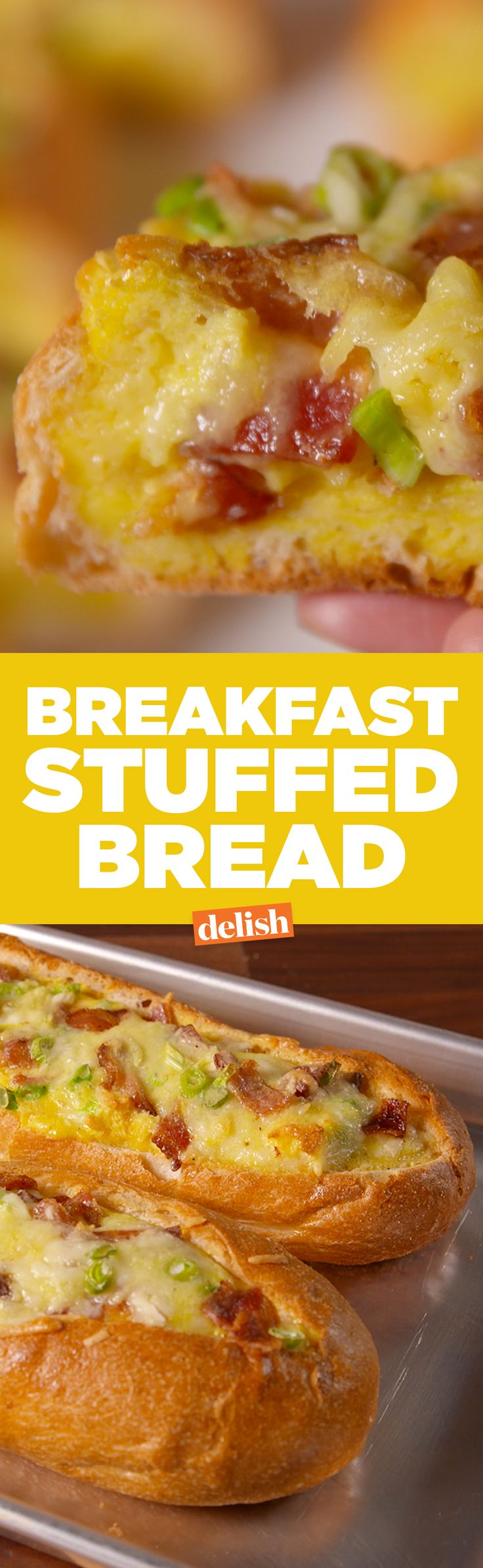 No fancy brunch compares to this Breakfast Stuffed Bread. Get the recipe on Delish.com.