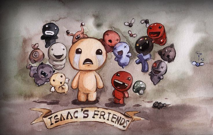 Isaac and his friends! by Faillen on deviantART