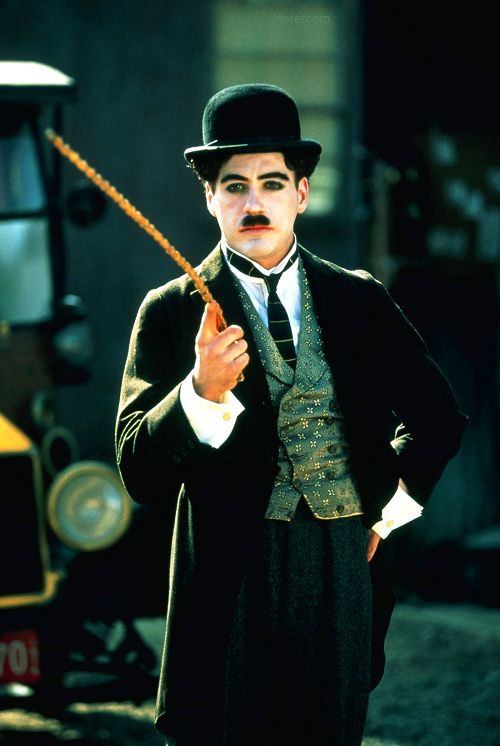 "Robert Downey Jr. in his Oscar-nominated role as ""Chaplin"""