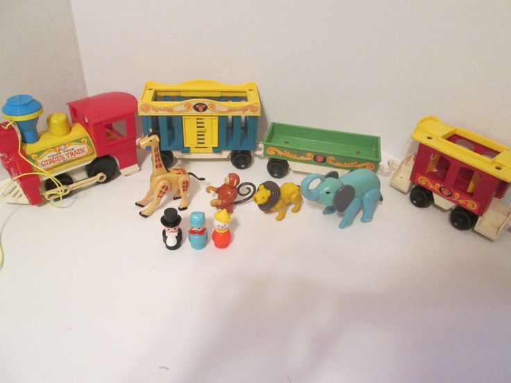 vintage fisher price little people circus train 991 set. Black Bedroom Furniture Sets. Home Design Ideas