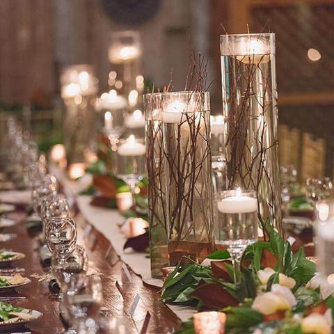 Repost from @_vitalicphoto: preciosos centros de mesas de una boda - cilindros de diferentes tamaños con agua y ramitas y dentro de cada cilindro una vela@- súper romántico  #boda #bodas #weddings #wedding #weddingdecor #partyidea #partydecor #centrodemesa #centerpieces #candles #velas #romantic #ido