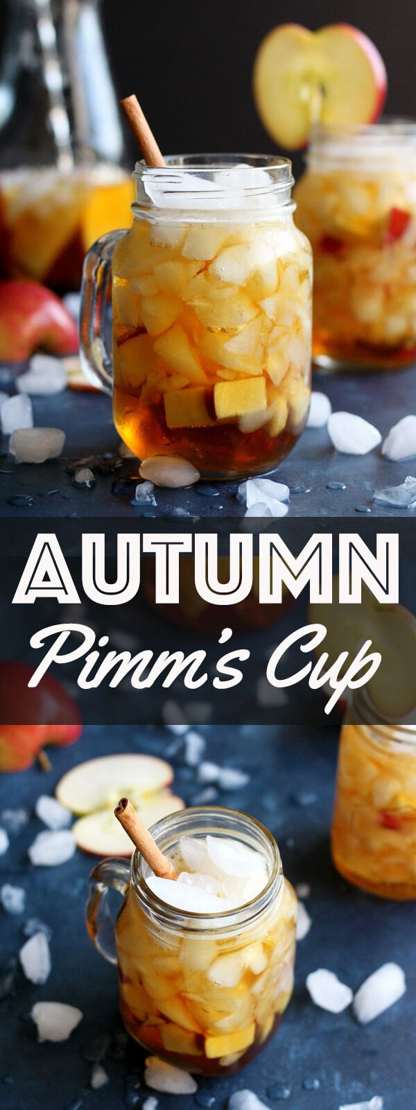 This Autumn Pimm's Cup is the Fall version of the popular Summer Pimm's cup cocktail. This easy light cocktail recipe is perfect for your holiday menu. | wildwildwhisk.com