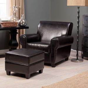Small Leather Lounge Chair And Ottoman