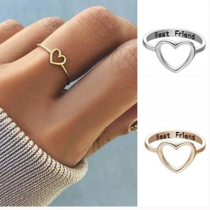 Hollow Heart Ring Best Friend Charm Price: $ 2.25 & FREE Shipping