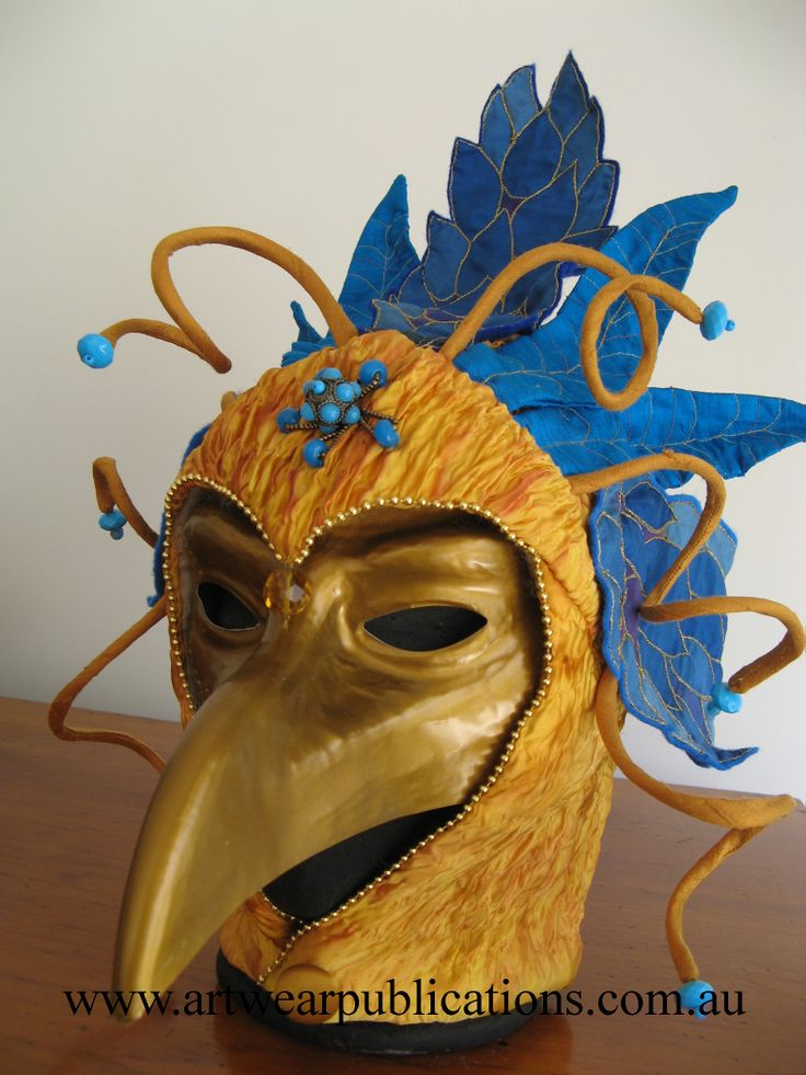 Barbara Mullan Bird Mask from Travel and Creativity