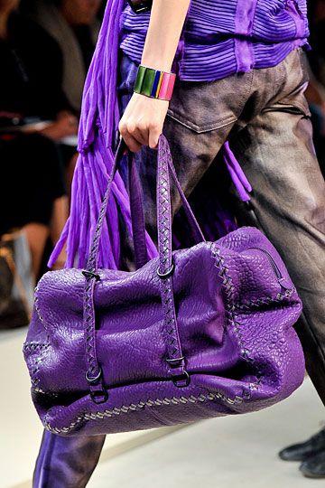 Purple bag - Bottega Veneta Details, Spring 2012