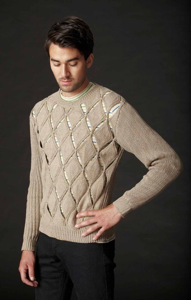 opening ceremony, partial knit argyle