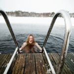 Outdoor winter sauna after the excursion followed by a dip.. Would you dare?!
