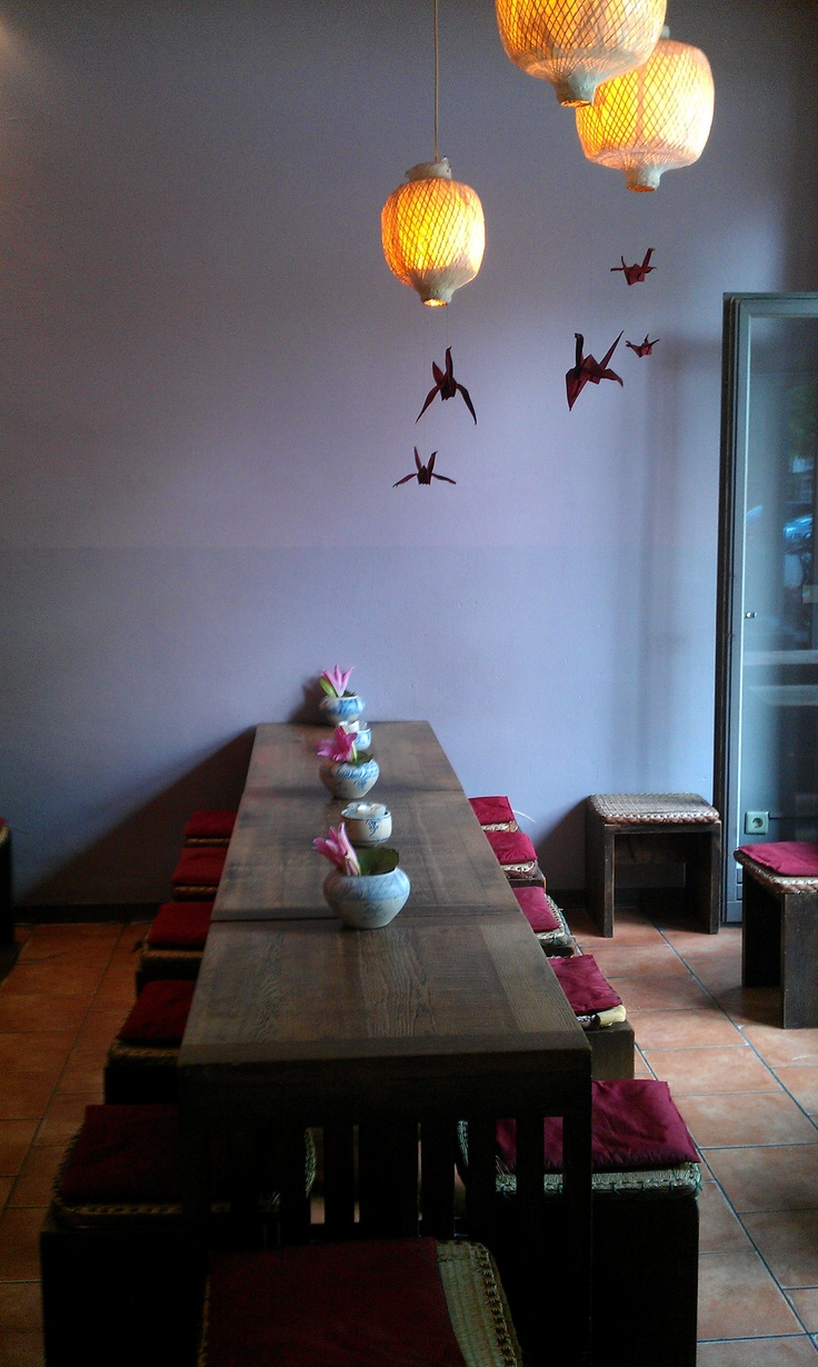 inside - from lamps, birds until colour of the wall and furniture BEAUTIFUL light and impressive style