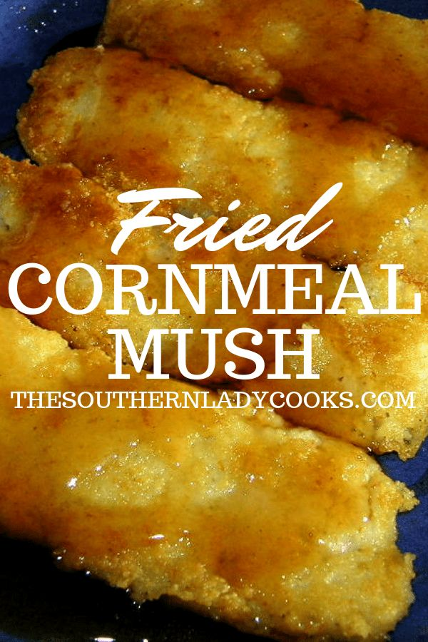 Fried Cornmeal Mush The Southern Lady Cooks Breads In
