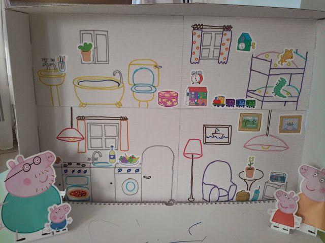 casa di Peppa Pig da scatola di cartone - DIY Peppa Pig's house #pepappig