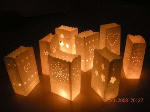 30 X Sunray Candle Paper Bag Lantern Wedding Night Party Outdoor Garden Path Dec My Spectacular 18 Pinterest Candles And Lanterns
