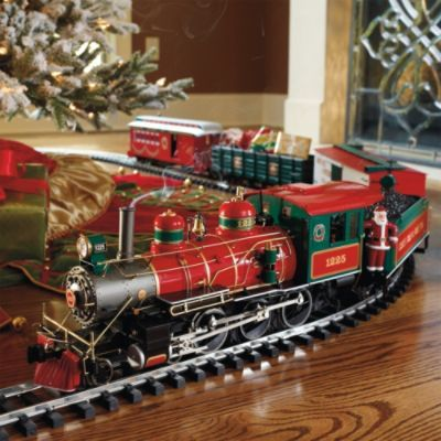 Wonderland Flyer Train Set - Frontgate I love having a toy train around the Christmas tree