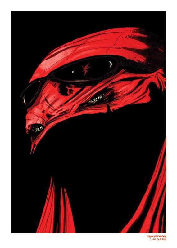 Raphael Mask Teenage Mutant Ninja Turtle Print by HaywireVisions